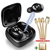 Nakosite POP2433 auriculares Bluetooth inalambricos deportivos o auriculares los bluetooth inalámbricos para iphone in ear headphones. Cable phone cargador gratis.