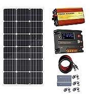 ECO-WORTHY 100w 太陽光パネル & 温度センサーチャージャーコントローラー CMG 20A & 1000W 12V-110V オフグリッドインバーター & 取付キット 12V バッテリーチャージャー