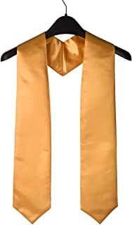 "GraduationSource Unisex Adult Plain Graduation Stole, 60"" Long, 15 Colors"