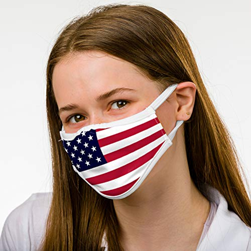 Badger Sportswear Unisex-Adult 3 Ply American Flag Protective Breathable Mask