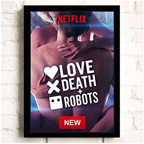 wzgsffs Love Death & Robots Póster De Película De TV E Impresiones Arte De Pared Impresión En Lienzo para Sala De Estar Dormitorio En Casa Decorativo-20X28 Pulgadas X 1 Sin Marco