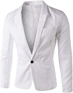 Runyue Men's Slim Fit Lapel Casual One Button Formal Suits Coat Jacket Business Blazer