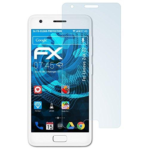 atFolix Schutzfolie kompatibel mit Lenovo Zuk Z2 Folie, ultraklare FX Bildschirmschutzfolie (3X)