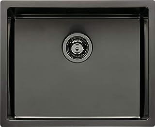 NABER 1015031 LUSSO 2 Einbauspüle, graphitfarbig, PVD-Beschichtung, ab 60 cm Schrankbreite/Spüle/Einzelbecken