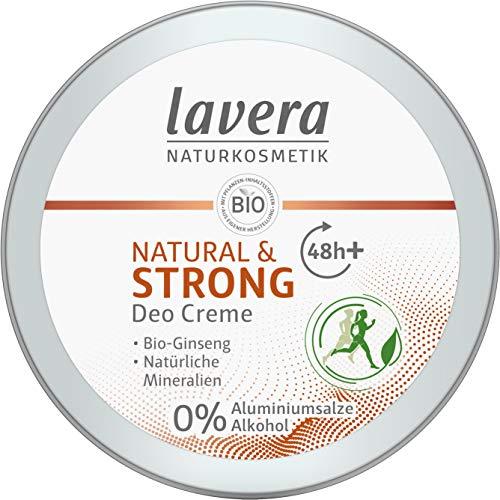 lavera, Deo Creme NATURAL STRONG vegan Naturkosmetik Bio Ginseng Natürliche Mineralien ohne Aluminium 48 Stunden Deo Schutz 50 ml, 1 stück