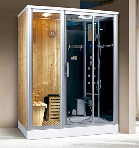 XXL Luxus LED Dampfdusche+Sauna Kombi Set Sauna-Komplettdusche Duschtempel+Radio
