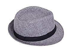 Zacharias Mens Fedora Hat (Grey)