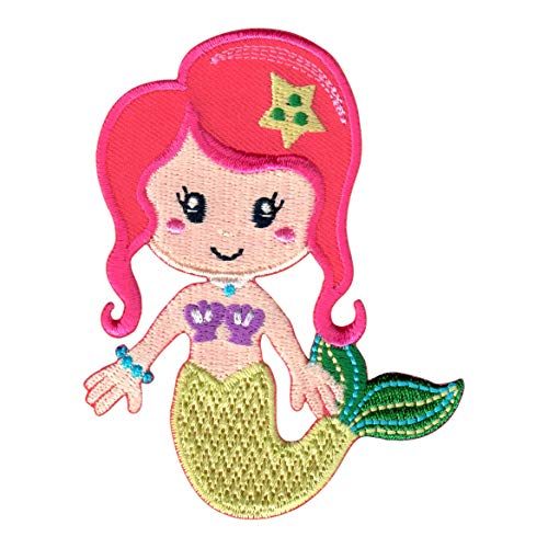 PatchMommy Mermaid Patch, Iron On/Sew On - Appliques for Kids Children