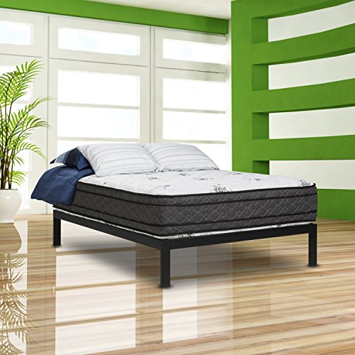 """Wolf Legacy Boxtop 11"""" Wrapped Coil and Latex Hybrid Mattress and Platform Set, Twin"""