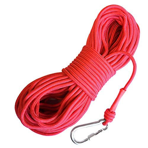 LeBigMag | Outdoor Seil ø 6 mm | 30 m | extrem reißfest bis 500 kg | mit Schraubkarabiner | Kein Kletterseil (kein Dehnungsseil)
