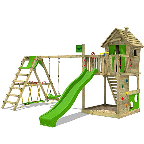 1. FATMOOSE Spielturm HappyHome