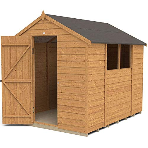 Forest Garden Overlap Dip Treated 8x6 Apex Shed