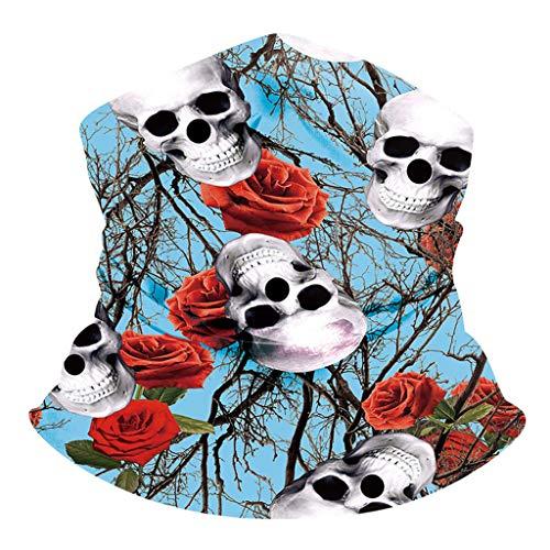 Aoogo Multifunktionstuch, Halstuch, Cooles und angenehmes Kopftuch in Totenkopf-Designs, Schlauchtuch, Bandana, für Damen und Herren