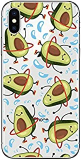iPhone X Case/iPhone Xs Case,Blingy's Fun Avocado Fruits Style Transparent Clear Soft TPU Protective Case for iPhone X and iPhone Xs (Dancing Avocados)