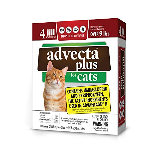 Advecta Plus Flea Protection for Large Cats, Long-Lasting and Fast-Acting Topical Flea Prevention, 4 Count