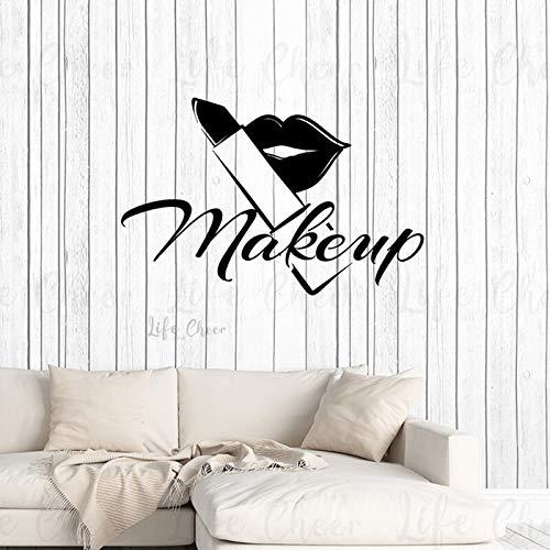 YuanMinglu Make-up Studio Fenster Wandaufkleber Wand Shop Kosmetiksalon Schönheit Lippenstift...
