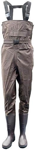 LCKS Tranchée de démarragefoot Hommes Poitrine Trench imperméable et Durable pêche Chasse néoprène Nylon et Isolation PVC