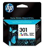 HP 301 cartouche d'encre Trois Couleurs (Cyan, Magenta, jaune) Authentique (CH562EE) pour imprimantes HP DeskJet, HP ENVY et HP OfficeJet