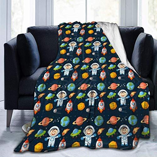 Nat Abra Space Astronaut Earth Throw Blanket Super Soft Comfy Micro Fleece Fuzzy Blanket Decorative Blanket