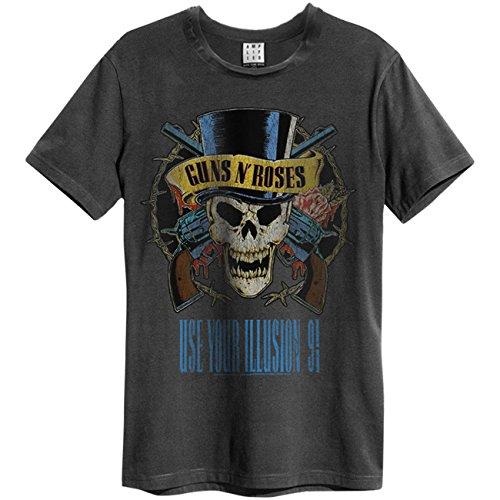 Amplified Guns n Roses – Use Your Illusion – Camiseta de carbón para hombre