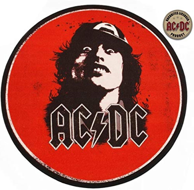 Rockbites Runder Teppich- Teppich- Teppich- AC DC Angus Young Rund 100 cm, Fan- Teppich B01LVY826M 811af1