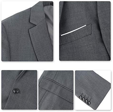 Cloud Style Traje ceñido para hombre, moderna chaqueta de un botón