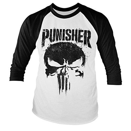 Officiellement sous Licence Marvels The Punisher Distressed Logo Sweat /à Capuche