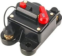 12V-24V DC Circuit Breaker Trolling Motor Auto Car Marine Boat Bike Stereo Audio Inline Fuse Inverter Waterproof with Manual Reset 50A 50Amp
