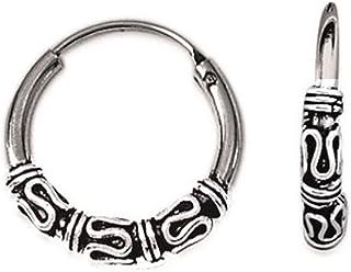 Les Plaisirs de Stella - Pendientes de aro de Bali, de plata 925/000, 18mm de diámetro