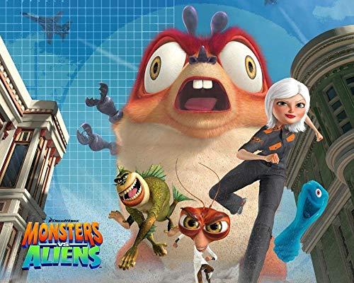 194Tdfc Toys -Monstruos De Películas Contra Alienígenas 1000 Piezas Juego De Puzzles Madera Niños Juguete Para Adultos Desarrollar La Paciencia Enfoque Reducir La Presión Hd Impresión 3D Diy Paisaje