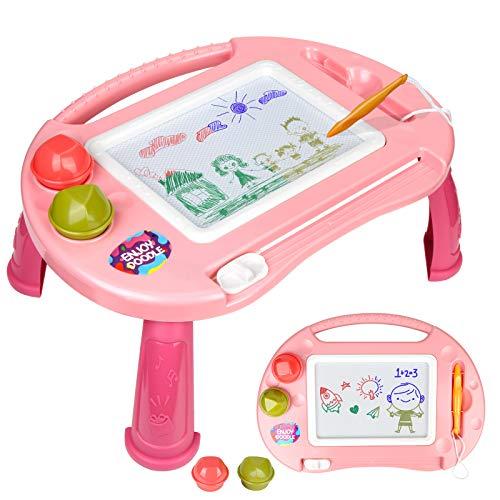 Lavagna Magnetica per Bambini,Lavagnetta Magnetica Magica,Tavoletta da Disegno Cancellabile 4 Colori Giocattoli Educativi,Cancellabile Magna Doodle per Bambini Porta,Portatile