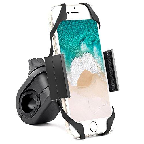 ipow Universal Fahrrad Handyhalterung, 360° verstellbar Motorrad Handyhalter Lenker Halterung für Smartphone & Navi wie iPhone Xr/Xs/ 8/7 Plus/se,Samsung Galaxy LG u.s.w