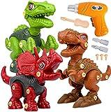 Dinosaurios Juguetes con Taladro Eléctrico, Juego Construccion Puzzle Dinosaurios...