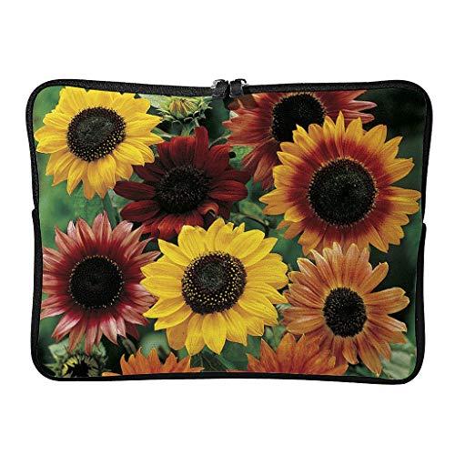 Sunflower Laptop Case Bag Waterproof High Capacity Zipper Basics 10-17 Inch Design for The Business Professional Travel Commuter White 17 Zoll