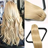 Clip in Hair Extensions 70G Platinum Blonde 100% Remy Human Hair Extensions 7A