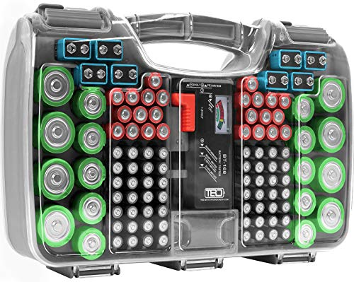 The Battery Organizer Storage Case with Hinged Clear Cover Only $19.99 (Retail $29.99)