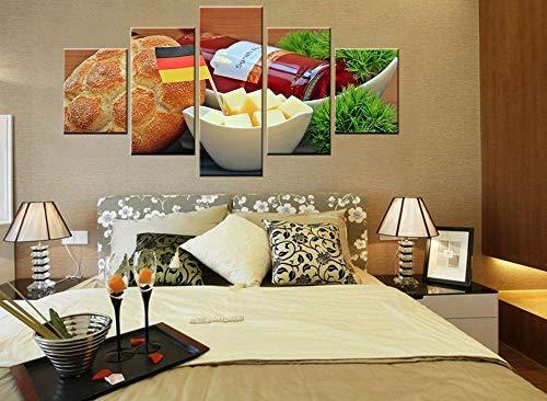 Wjdymx canvas print brood eten foto's beste muurkunst voor keuken decoraties olieverfschilderij canvas hoge kwaliteit aangepast en groothandel