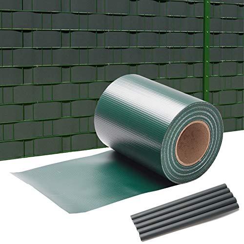 wolketon PVC Sichtschutz 35M x 19cm Sichtschutzfolie 450 g/㎡ Windschutz Stabmattenzaun Gartenzaun Blickdicht