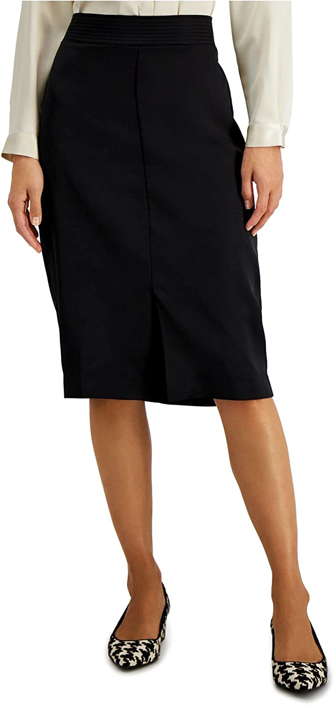 Alfani Womens Black Knee Length A-Line Wear to Work Skirt Size 10