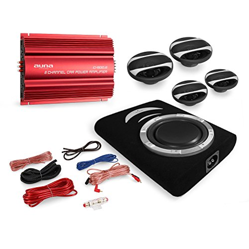 Cougar Car HiFi Set Rom 4.1 System 3000 Watt Endstufe + 4X Auna CS Speaker + Auna Suboofer