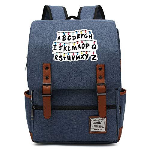 Stranger Things Casual Daypack, all'aperto Oxford College School zaino, si adatta 15'' Tablet portatile, Acqua Resistente 16 pollici. 16 Premere l'immagine della scheda a colori.