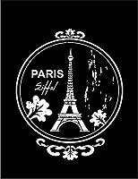 【エッフェルタワー パリ】 ポストカード・はがき(黒背景)