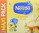 Nestlé Papilla 8 Cereales con miel - Alimento Para bebés - Paquete de Papillas 2400g