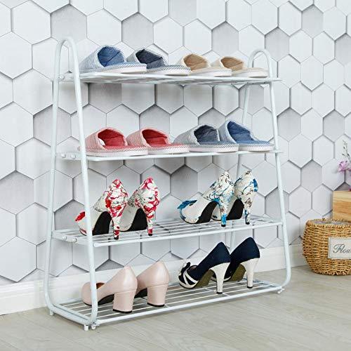 M-YN Zapatero Organizador de Almacenamiento de pie de pie, apilable, de 4 Niveles, for 8 Pares de Zapatos 63 x 25 x 71 cm for Pasillo (Color : White)