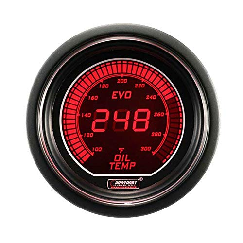 Oil Temperature Gauge- Electrical Red/blue EVO Series 52mm (2 1/16