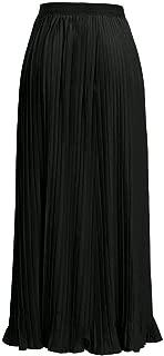 Long Skirt Women Solid Color High Waist Shirring Fashion Ankle-Length Maxi Skirt