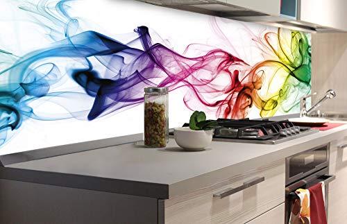DIMEX LINE Küchenrückwand Folie selbstklebend Rauch | Klebefolie - Dekofolie - Spritzschutz für Küche | Premium QUALITÄT - Made in EU | 180 cm x 60 cm