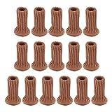 Color 16 protectores de suelo antideslizantes, calcetines de pierna de silla con almohadillas de fieltro, botines de alta elasticidad para muebles con doble capa