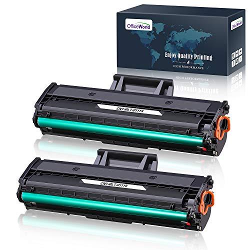 OfficeWorld Toner per Samsung MLT-D111S, D111S, 111S, MLTD111S Cartucce Toner Compatibile con Samsung Xpress SL-M2026 SL-M2026W SL-M2020W SL-M2020 SL-M2022 SL-M2022W SL-M2070 SL-M2070W SL-M2070FW (1,000 Pagine / Nero)