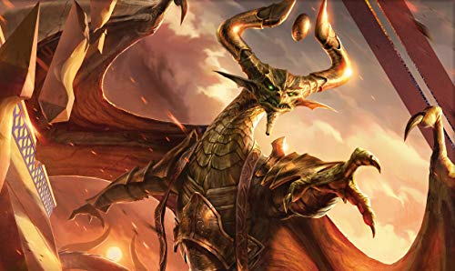 Nicol Bolas, God-Pharao - Brettspiel MTG Spielmatte Tischmatte Spiele Größe 60x35cm Mousepad Spielmatte für Yugioh Pokemon Magic The Gathering